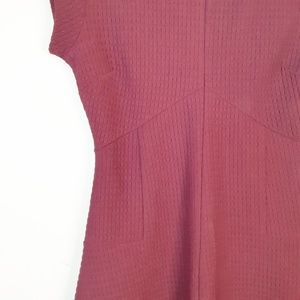 Banana Republic Dresses - Banana Republic Burgundy Quilted Fit & Flare Dress